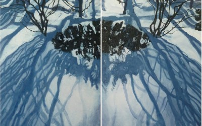 Winter's Hill, (diptych)